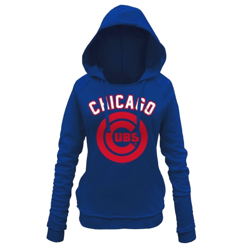 Chicago Cubs 5th & Ocean by New Era Women's Hot Corner Pullover Hoodie - Royal