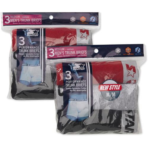 Starter Men's Trunk Briefs, 6-Pack