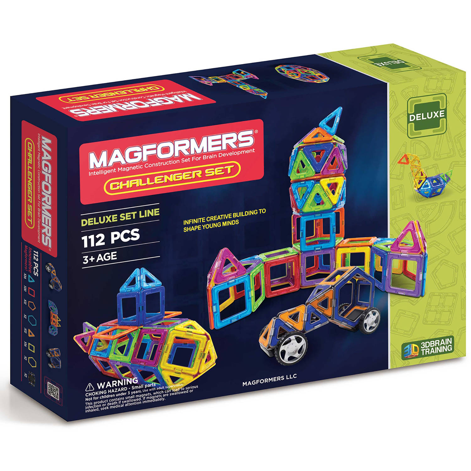 Magformers Challenger 112-Piece Magnetic Construction Set by Magformers