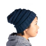 DG Hill Winter Hat For Women Snug Beanie Hat Chunky Knit Stocking Cap Soft Warm