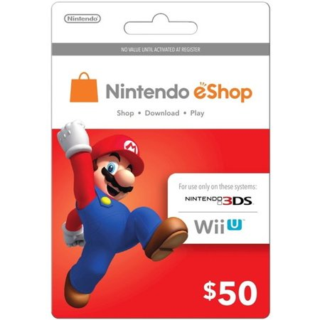 Nintendo eShop Gift Card - $50