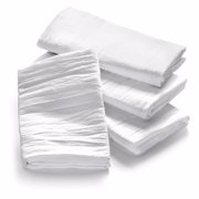 "GHP 60-Pieces 32""x28"" White 100% Cotton Premium Flour Sack Cleaning Dish Towels"