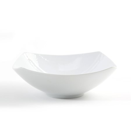 Gibson Elite Gracious Ceramic 9.5 In. Bowl, White