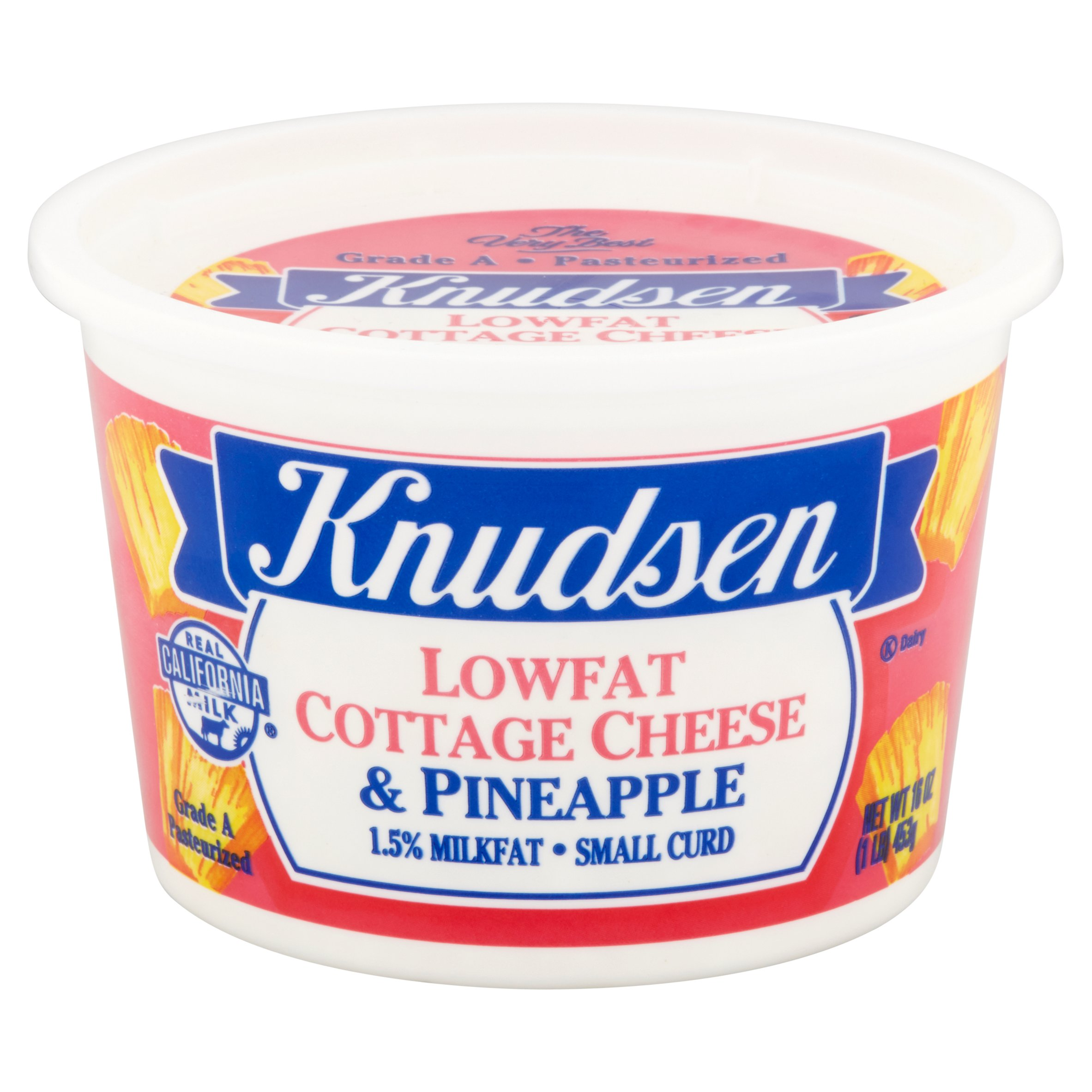 Knudsen Lowfat W Pineapple Cottage Cheese 16 Oz
