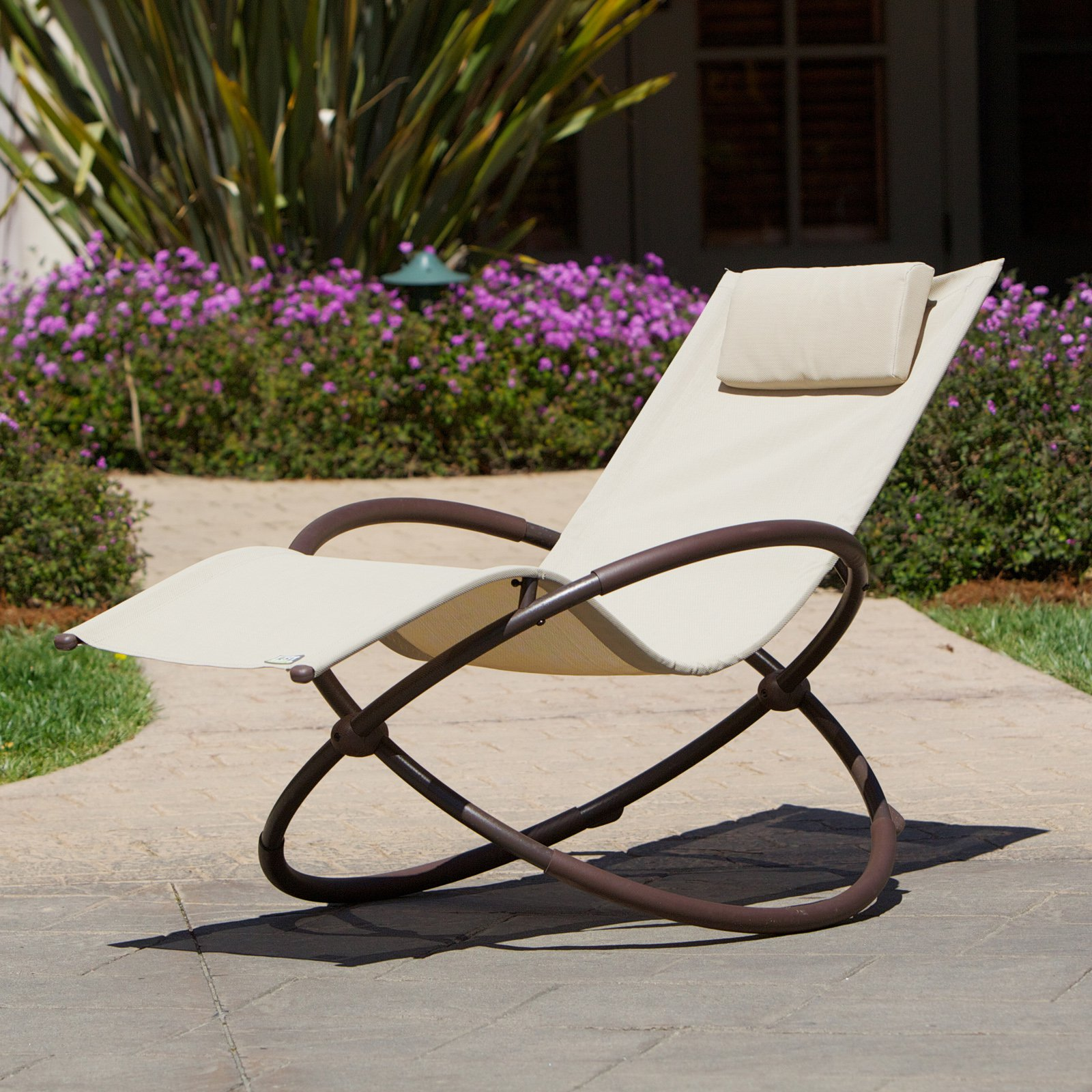 RST Brands Original Orbital Outdoor Lounger, Beige