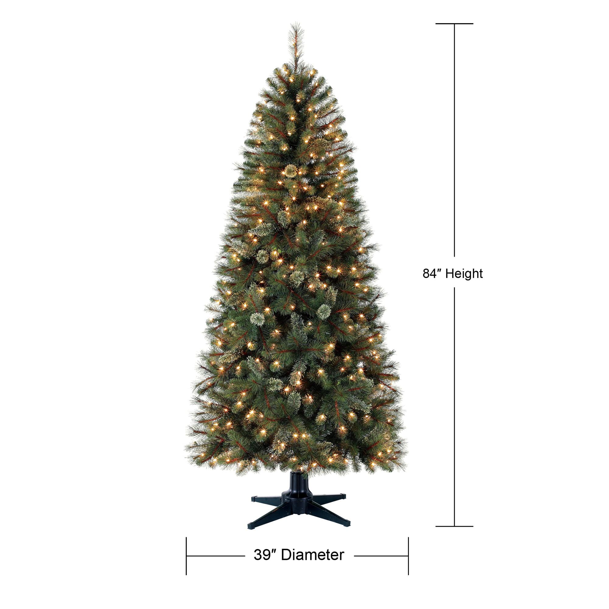 Holiday Time Pre Lit 7 Brookfield Fir Artificial Christmas Tree Clear Lights Walmart Com Walmart Com