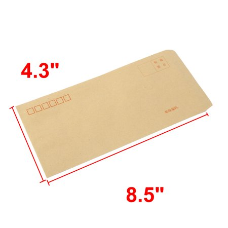 Office School Paper Rectangle Shaped Letter Envelope Stationery Gift 100 Pcs - image 1 of 5