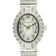 Women's Crystal Accent Silver-Tone Dressy Expansion Watch