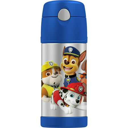 Disney Princess Bottle - Genuine Thermos Paw Patrol Stainless Steel 12 Ounce Vacuum Insulated Bottle with Straw