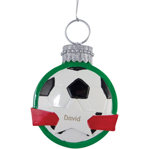 Personalized Soccer Ball Christmas Ornament