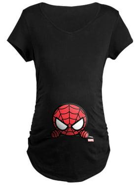 CafePress - Spider Man Peeking Maternity Dark T Shirt - Maternity Dark T-Shirt
