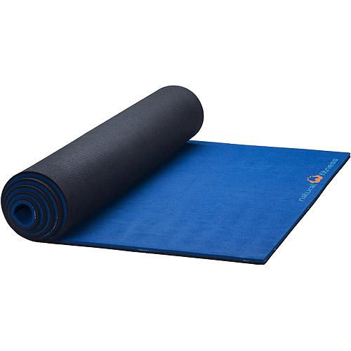 Natural Fitness Natural Rubber Professional Extra-Long Yoga Mat, Ocean / Night