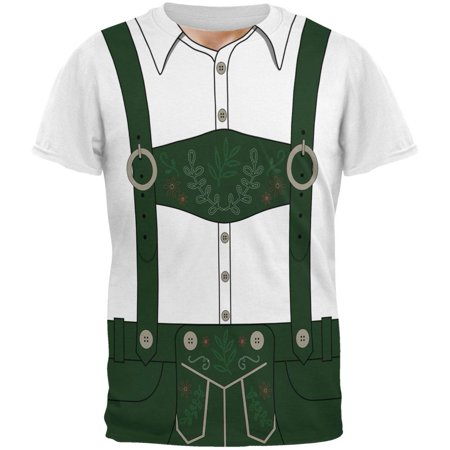 Halloween Lederhosen Yodelling Yodeller Costume Swiss All Over Mens T - Mens Lederhosen Costume