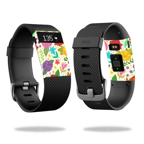 Skin Decal Wrap for Fitbit Charge HR cover skins sticker watch Flower