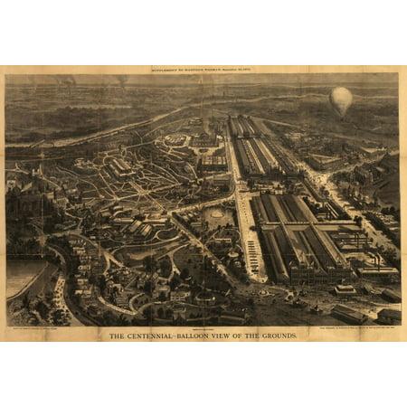 Vintage Map of Philadelphia Pennsylvania 1876 Philadelphia County Canvas Art -  (24 x 36) ()