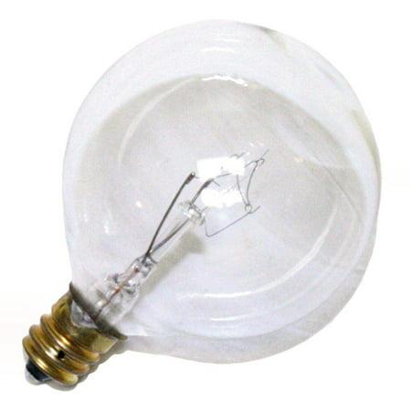 15 Watt G16 1/2 Globe (Satco 03921 - 15G16-1/2CL 130V   A3921 G16 5 Decor Globe Light)