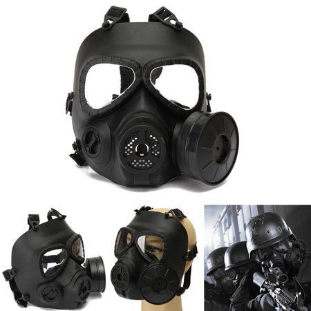 Grtsunsea Tactical Full Face Protection Safety Gear Mask Guard for Paintball Airsoft Game Adult (Airsoft Gear For Kids)