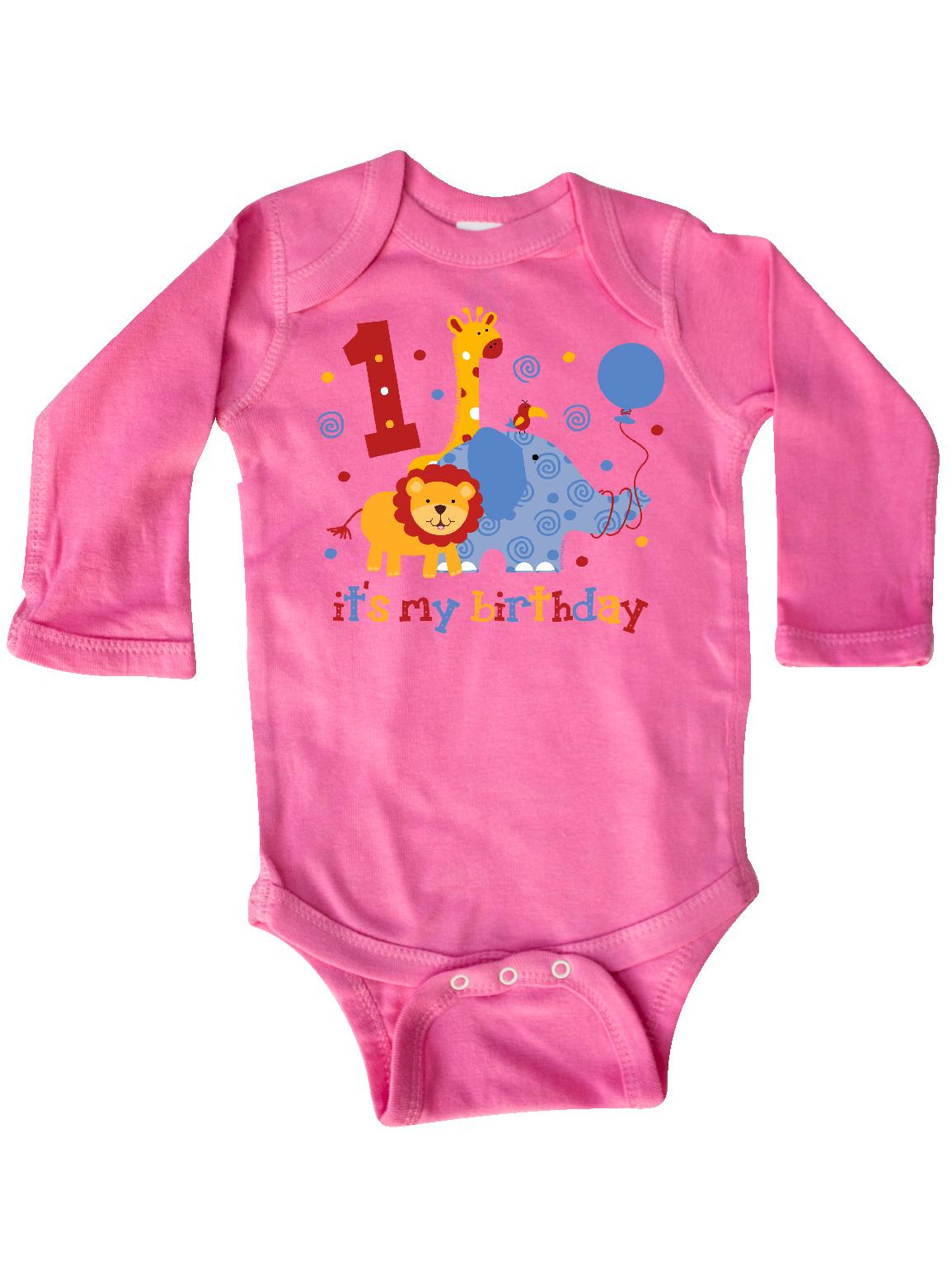 inktastic Babys 1st Christmas with Cute Cat in Colorful Long Sleeve Creeper