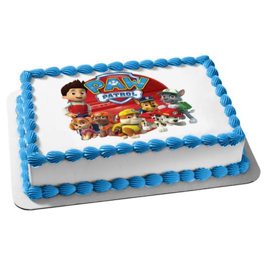 Fine Paw Patrol Chase Skye Zuma Marshall Rocky Ryder Rubble Edible Cake Personalised Birthday Cards Arneslily Jamesorg