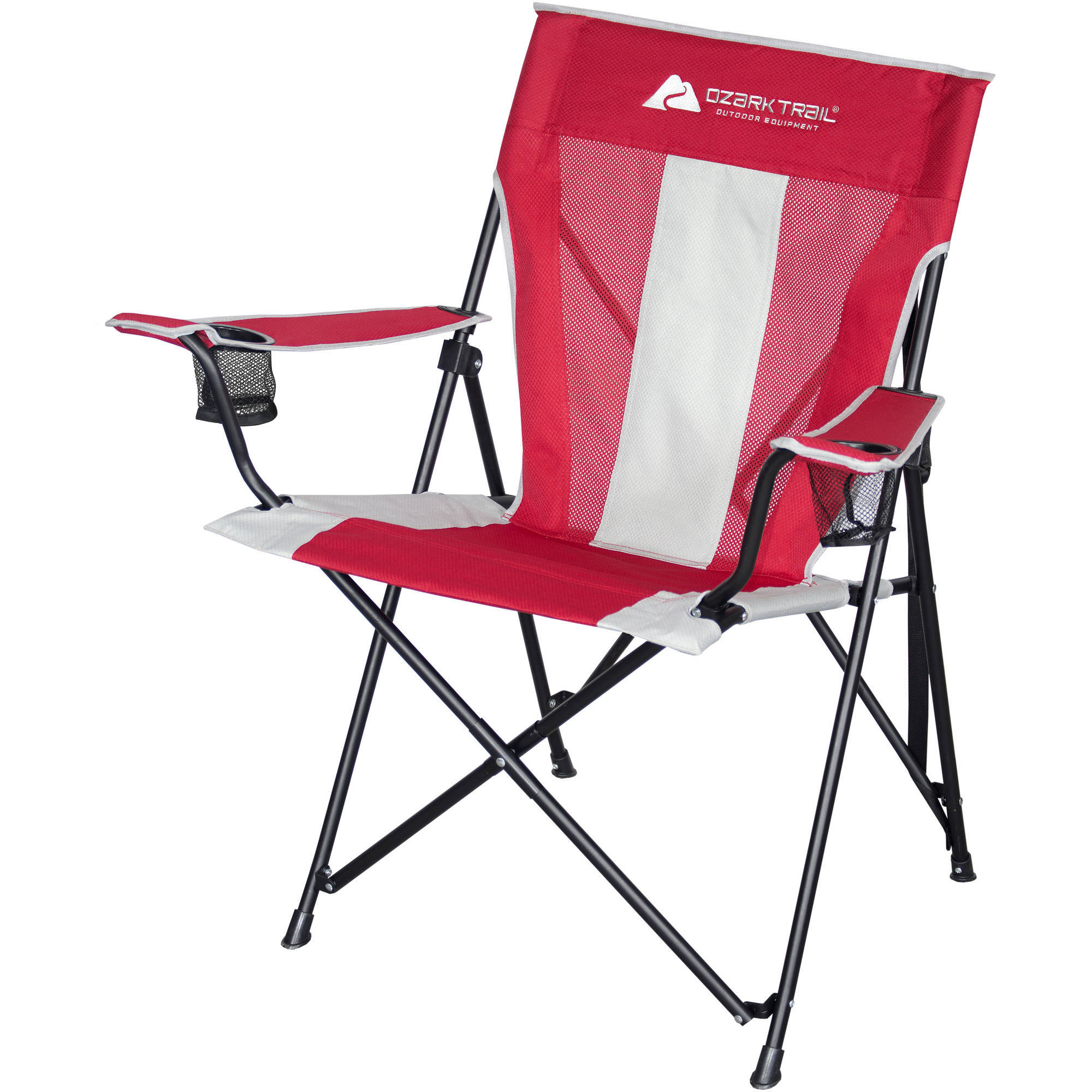 Ozark Trail Tension Camp Chair, Red