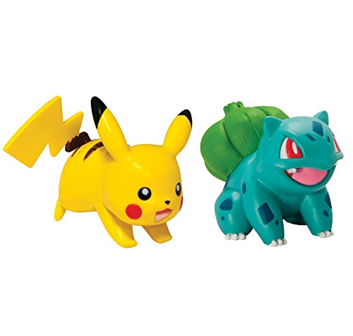 Pokmon 2 Pack Small Figures, Pikachu And Bulbasaur - image 1 de 1