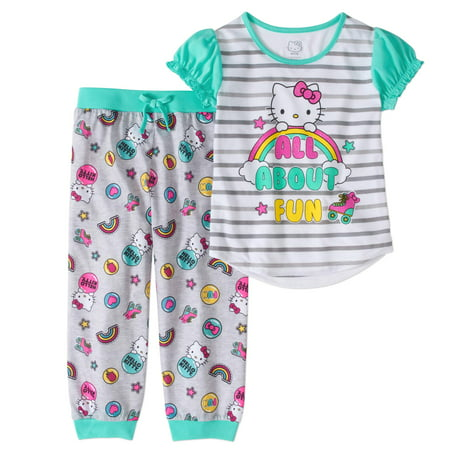 Hello Kitty Girls' 2pc Jogger Capri Pajama -