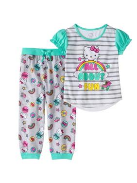 a17bfc885 Product Image Hello Kitty Girls' 2pc Jogger Capri Pajama Set