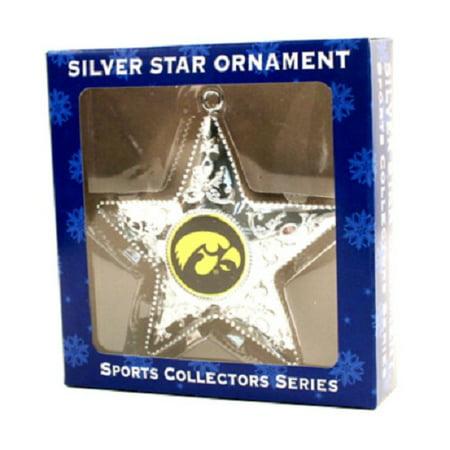 Iowa Hawkeyes NCAA Sports Collectors Series Silver Star Ornament
