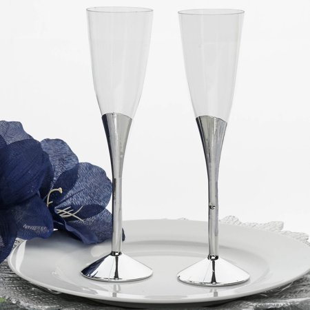 Efavormart 30 Pcs 6oz Disposable Clear Plastic  Champagne Flutes for Wedding Birthday Party Banquet Events Cocktail Cups (30 Birthday)
