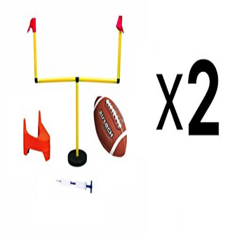 Franklin Sports Youth Football 2 Goal Post Set