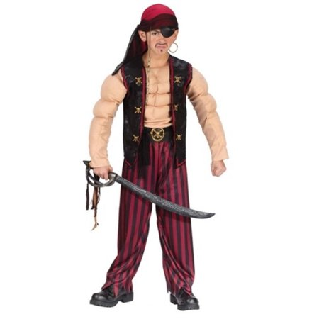 Muscle Pirate Boy's Halloween Costume Size Small (4-6) - Smalls Halloween Costume
