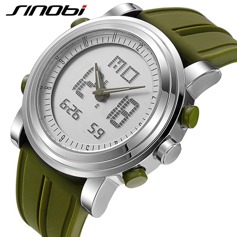 Sports Watch Outdoor Military LED Casual Watches Men's Digital Quartz Wristwatch