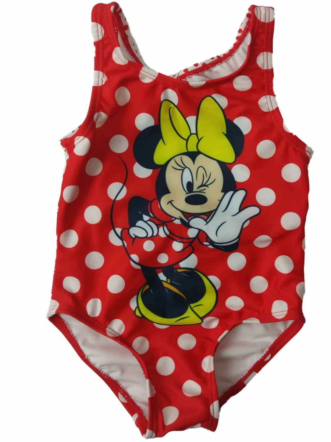 Infant Toddler Girls Disney Minnie Mouse Red Polka Dot 1 Piece Swimming Suit