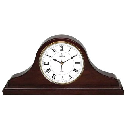 Best Mantel Clock, Silent Decorative Wood Desk Clock, Battery Operated, Dark Wooden Design, for Living Room, Office, Kitchen, Shelf & Home Décor Gift - 15