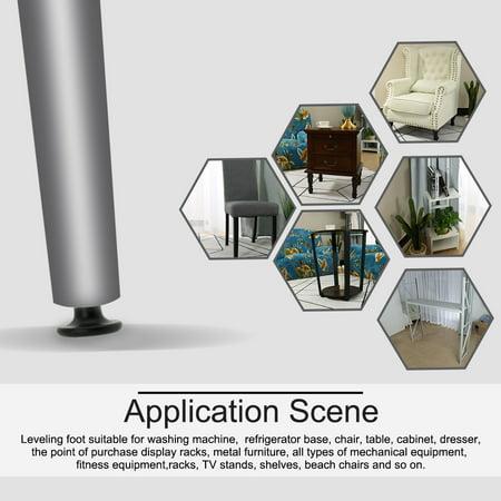 M8 x 17 x 45mm Furniture Glide Leveling Feet Floor Protector Desk Sofa Leg 12pcs - image 5 of 7