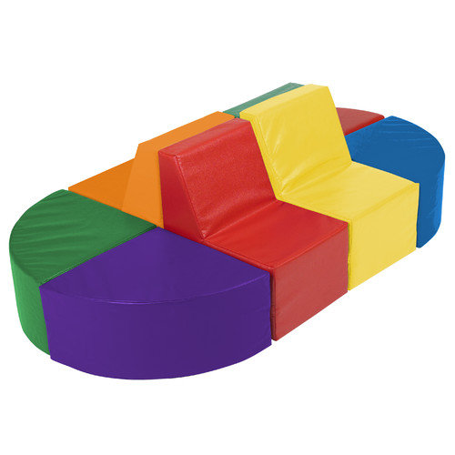 ECR4Kids SoftZone  8 Piece Sectional