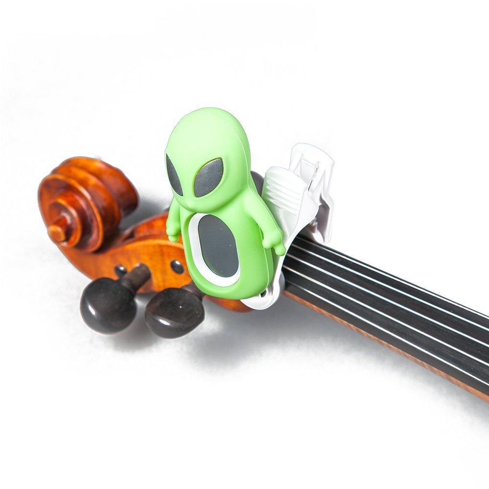 SWIFF Digital Chromatic Guitar Bass Violin Ukulele Carton Tuner w Battery (Green ET)
