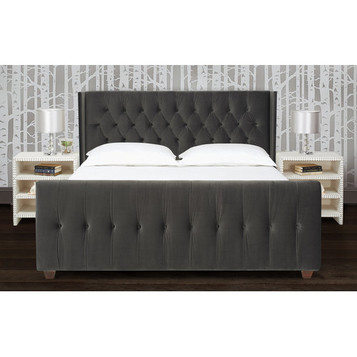 Jennifer Taylor Home David Upholstered Wingback Bed