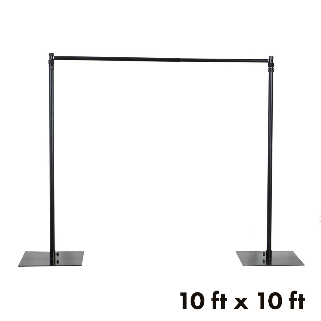 BalsaCircle 10 ft x 10 ft Heavy Duty Adjustable Pipe and Drape Kit Backdrop Support Stand  sc 1 st  Walmart & BalsaCircle 10 ft x 10 ft Heavy Duty Adjustable Pipe and Drape Kit ...