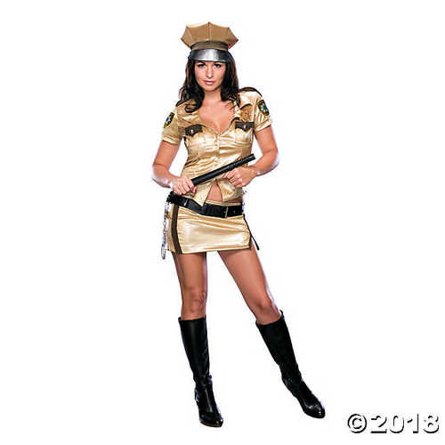 SALES4YA Adult-Costume Reno 911 Female Deputy Medium Halloween Costume
