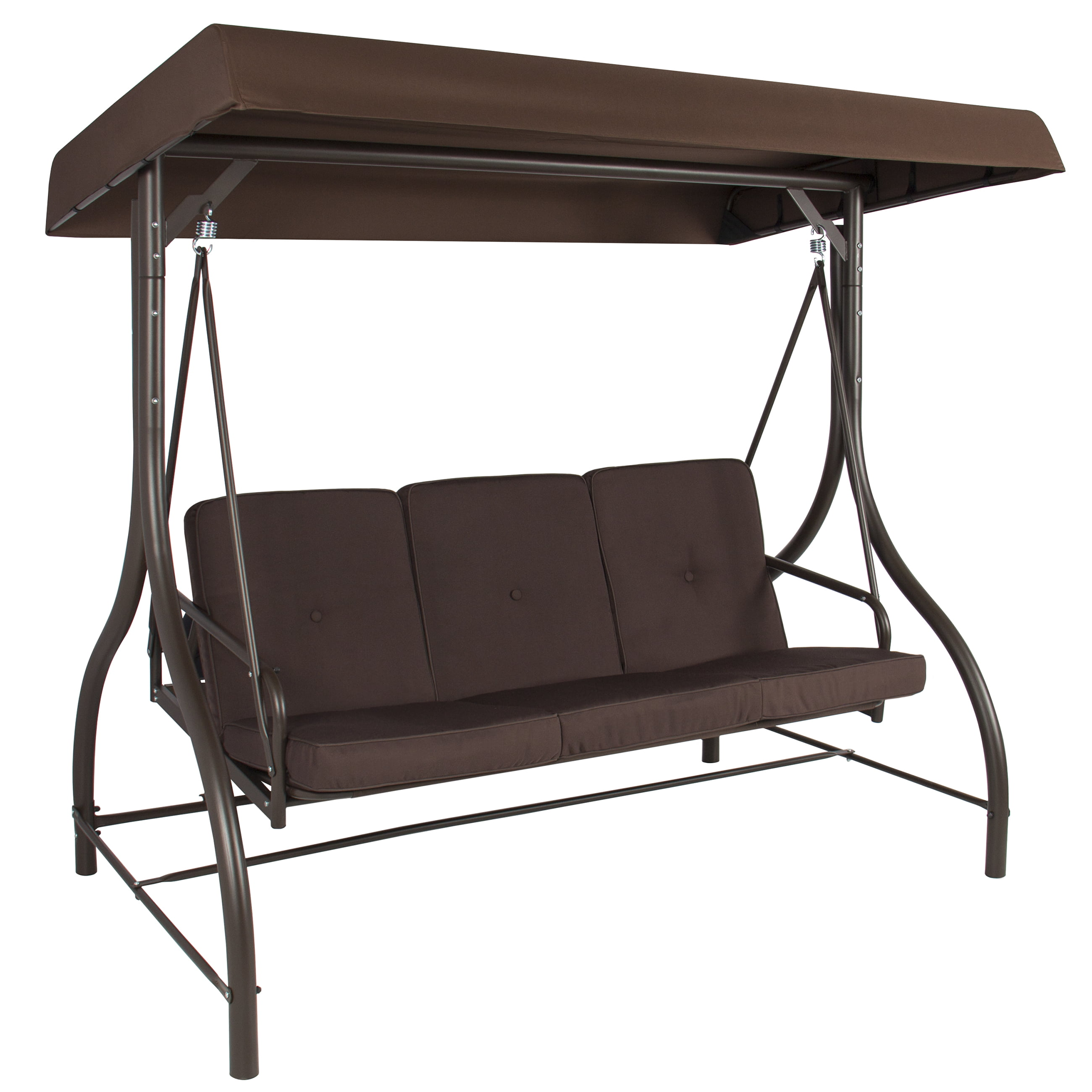 Genial Best Choice Products 3 Seat Converting Outdoor Furniture Patio Swing Canopy  Hammock   Brown   Walmart.com