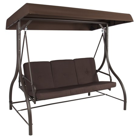 Best Choice Products 3 Person Canopy Swing - Brown ()
