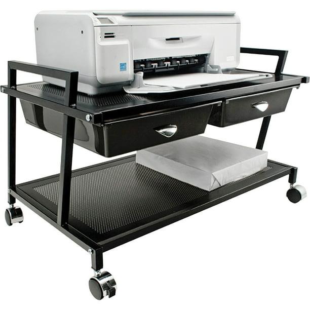 Vertiflex, VRTVF95530, Underdesk Machine Stand with Drawers, 1 Each, Black