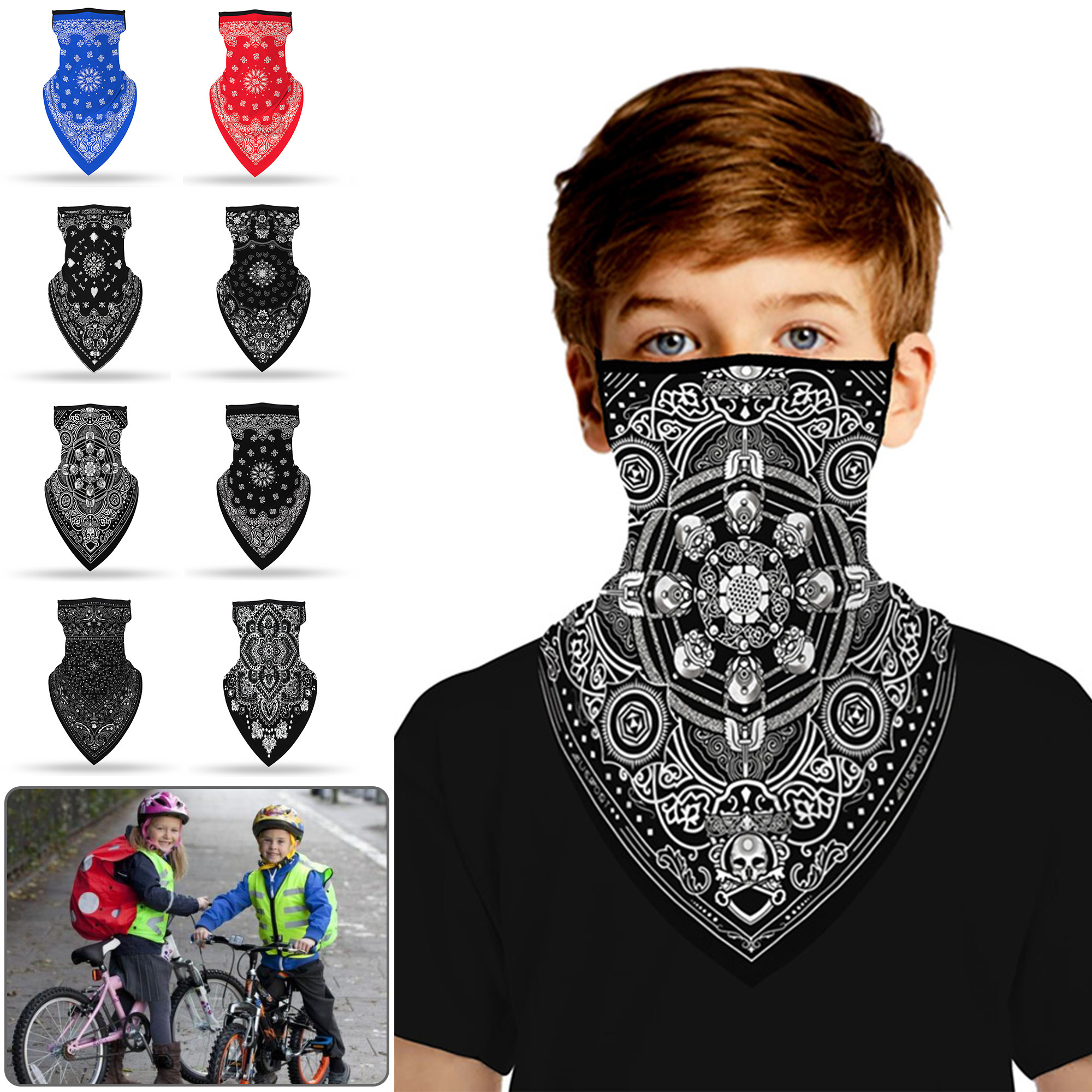 Breathable Neck Gaiter Face Hanging Mask Protection for Outdoor Sport