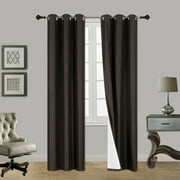 """(SSS) 2-PC Brown Solid Blackout Room Darkening Panel Curtain Set, Two (2) Window Treatments of 37"""" Wide x 84"""" Length Each Panel"""