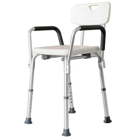 homcom adjustable medical shower seat bath chair w arms