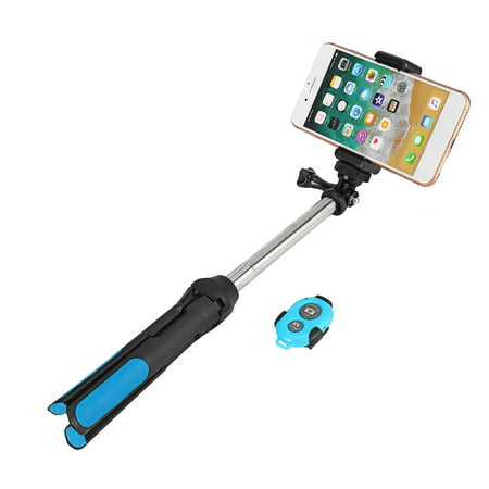 Portable Professional Camera Tripod, 360 Degree Camera Monopod Bluetooth Selfie Stick Tripod with Remote Control for Go-Pro & Camera, for iPhone & Android Smart Mobile Phone - image 4 of 10