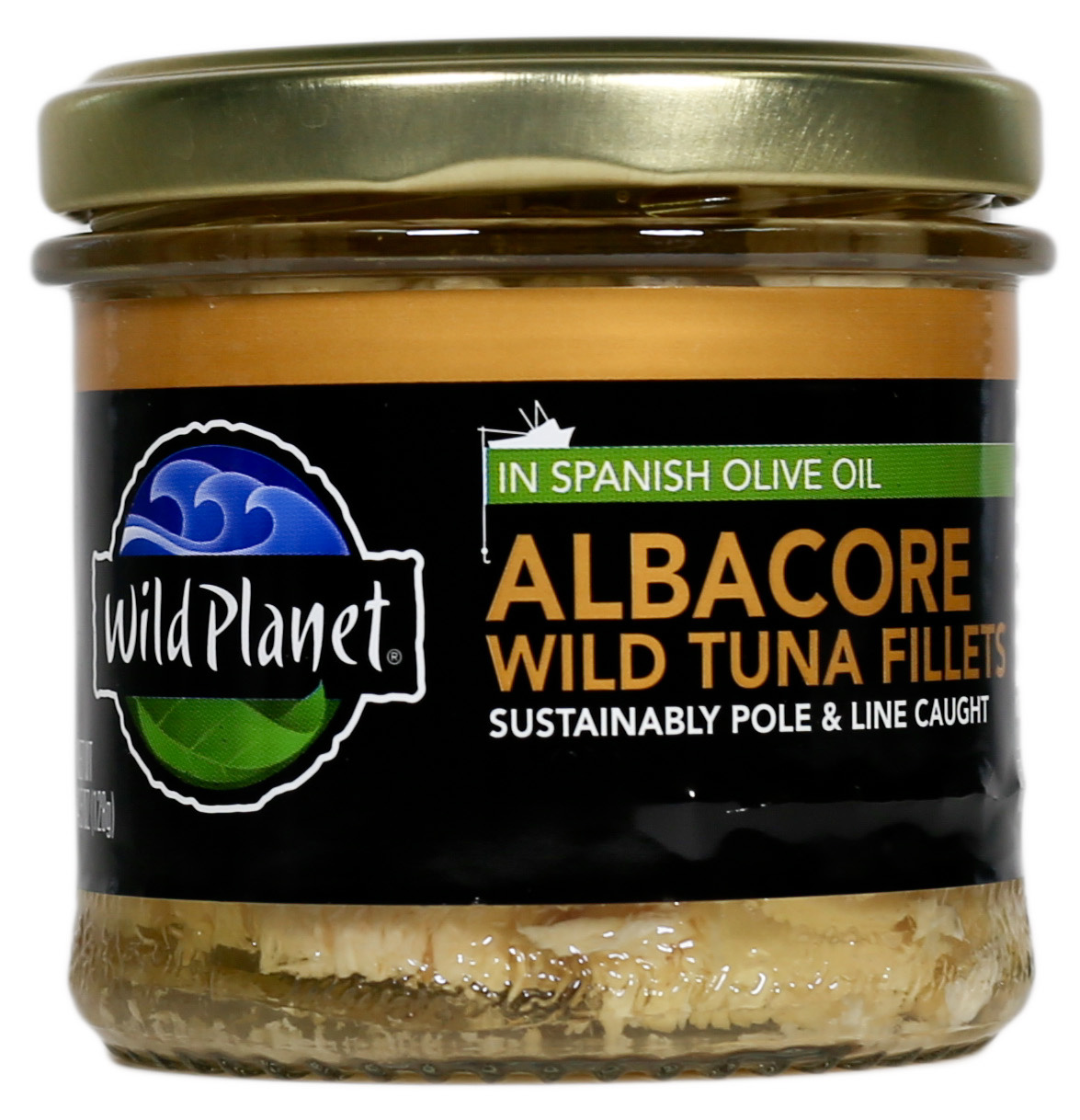 Wild Planet Jarred Wild Albacore Tuna Fillets, 100% Poll & Troll Caught, in Spanish olive Oil, 4.5 Oz