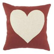 Brite Ideas Living Circa Linen Lava 17 x 17 with Linen Heart Pillow