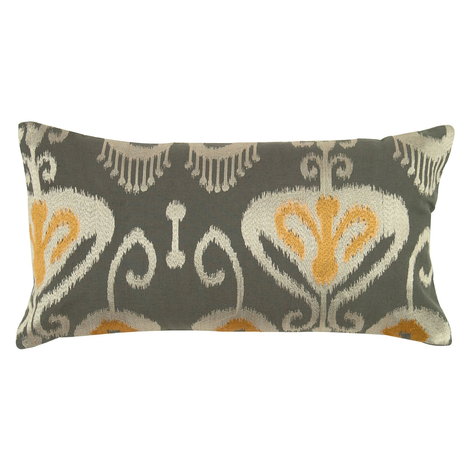 """Rizzy Home ikat  with flourishes11"""" x 21""""Cotton decorative filled pillow"""